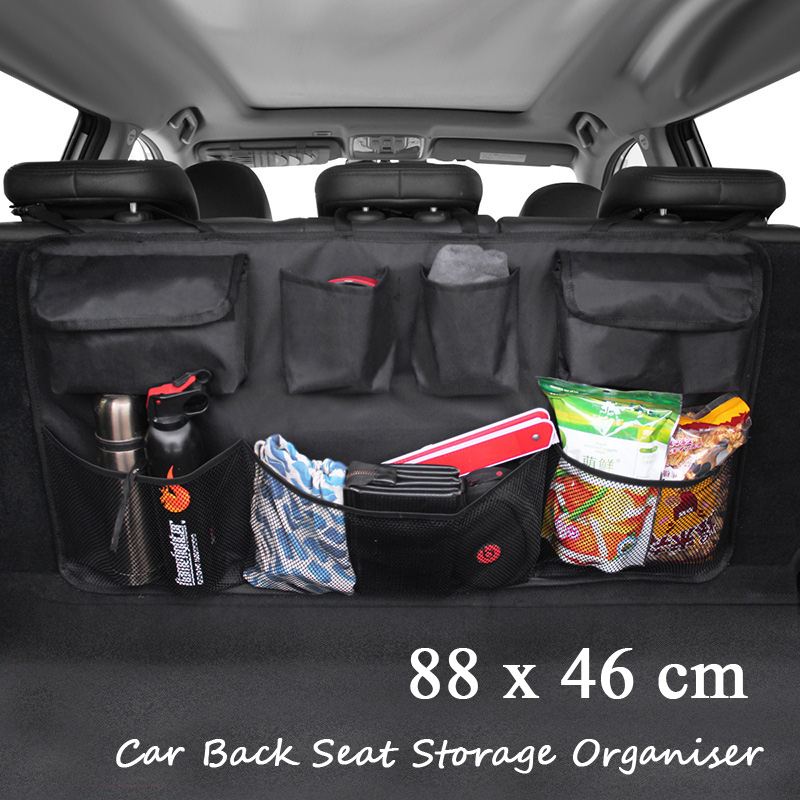 Black Car Seat Multifunction Mesh Pocket Hanging Boot Tidy Storage Organiser UK
