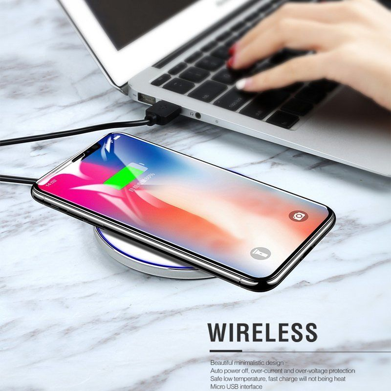 qi wireless charger kabelloses schnell ladeger t f r. Black Bedroom Furniture Sets. Home Design Ideas