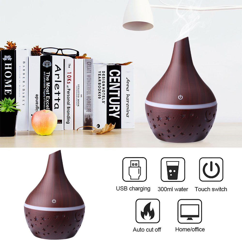 UK LED 7 Colour Ultrasonic Aroma Essential Oil Diffuser Air