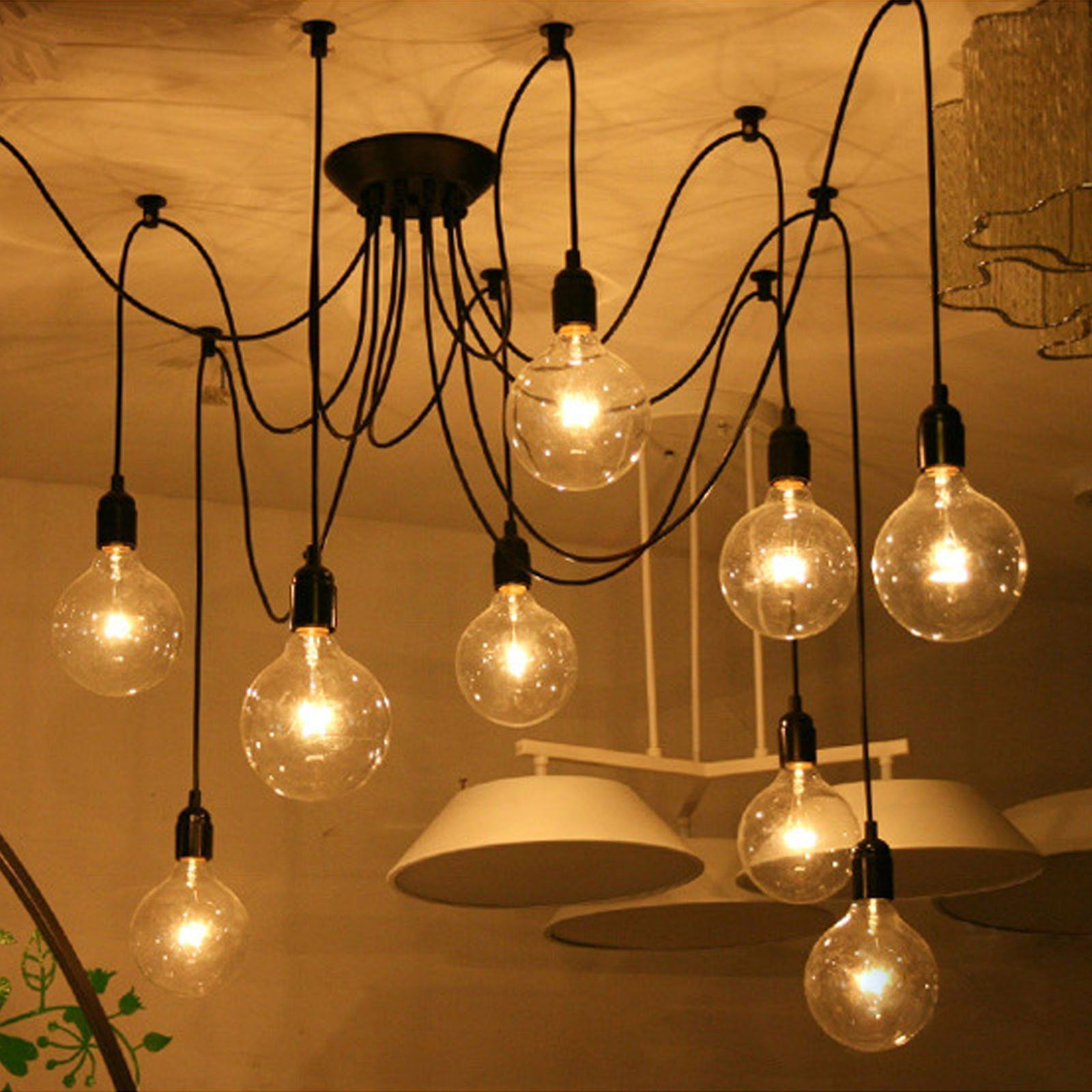 Vintage industrial fixture spider ceiling light lighting pendant vintage industrial fixture spider ceiling light lighting pendant chandelier lamp mozeypictures Choice Image