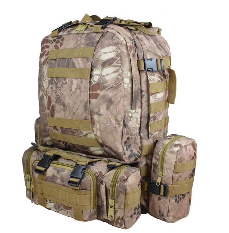 55L-Sport-Army-Rucksack-Kampfrucksack-Wasserdicht-Outdoor-Trekking-Taktische