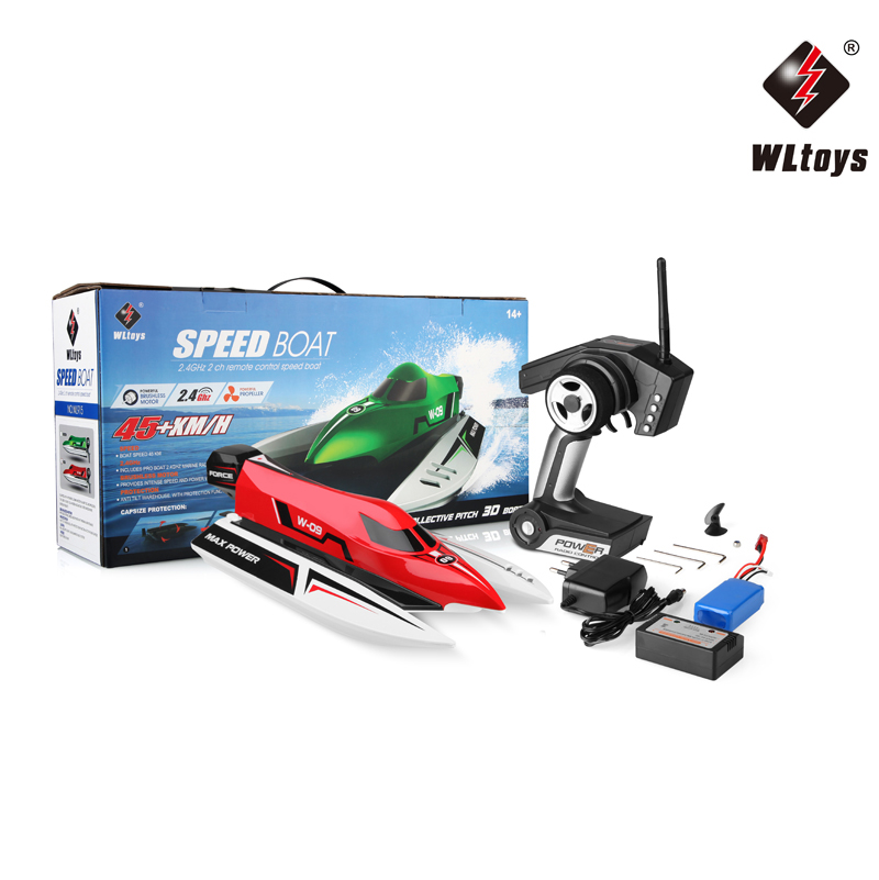 2017 WLtoys WL915 2.4Ghz 2CH Brushless High Speed RC F1 Racing Boat J8M4 Gift