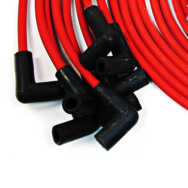 9 5 Mm Red 90 Degree Spark Plug Wires For Distributor