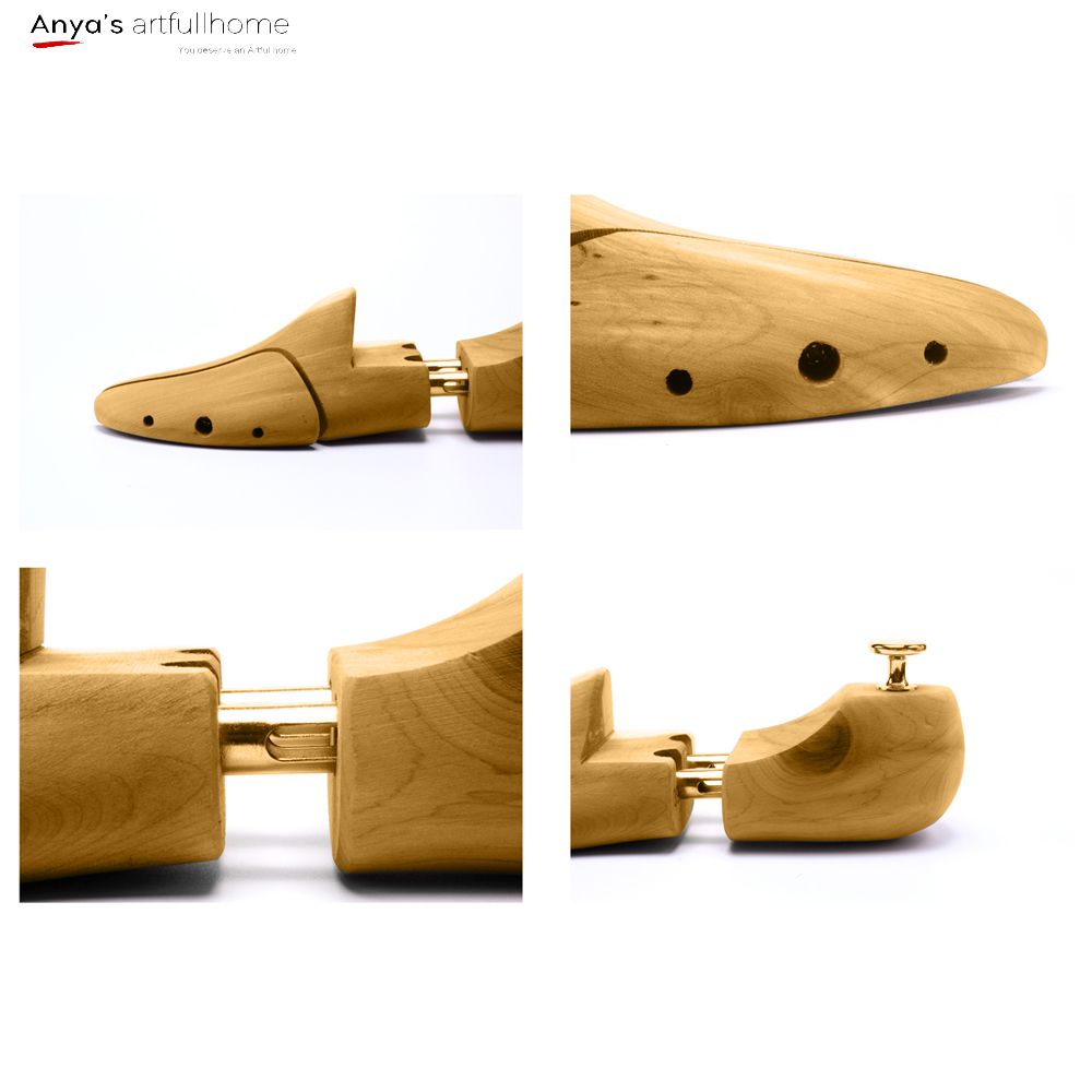 1 Pair Professional Adjustable Wooden Shoes Stretcher for Boots 45-46