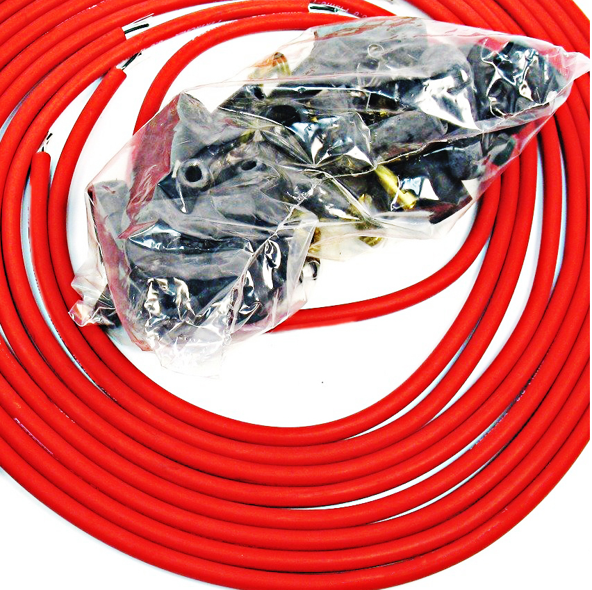 95 MM RED 90 Degree SPARK PLUG WIRES FOR DISTRIBUTOR CHEVY BBC SBC SBF 302 350   eBay