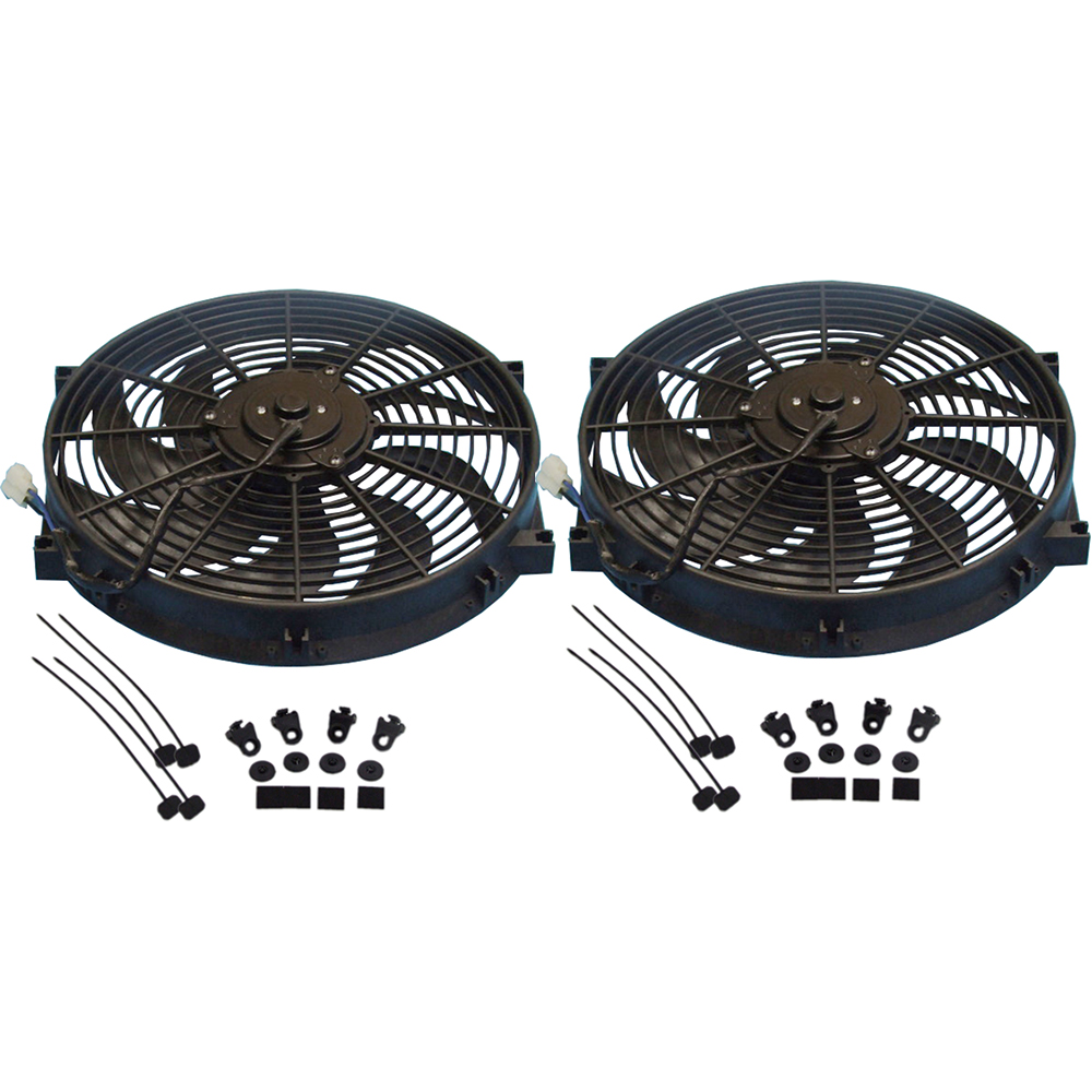 "FAN CHROME ELECTRIC 16 INCH REVERSIBLE RADIATOR COOLING /""S/"" SHAPED CURVED BLADE"