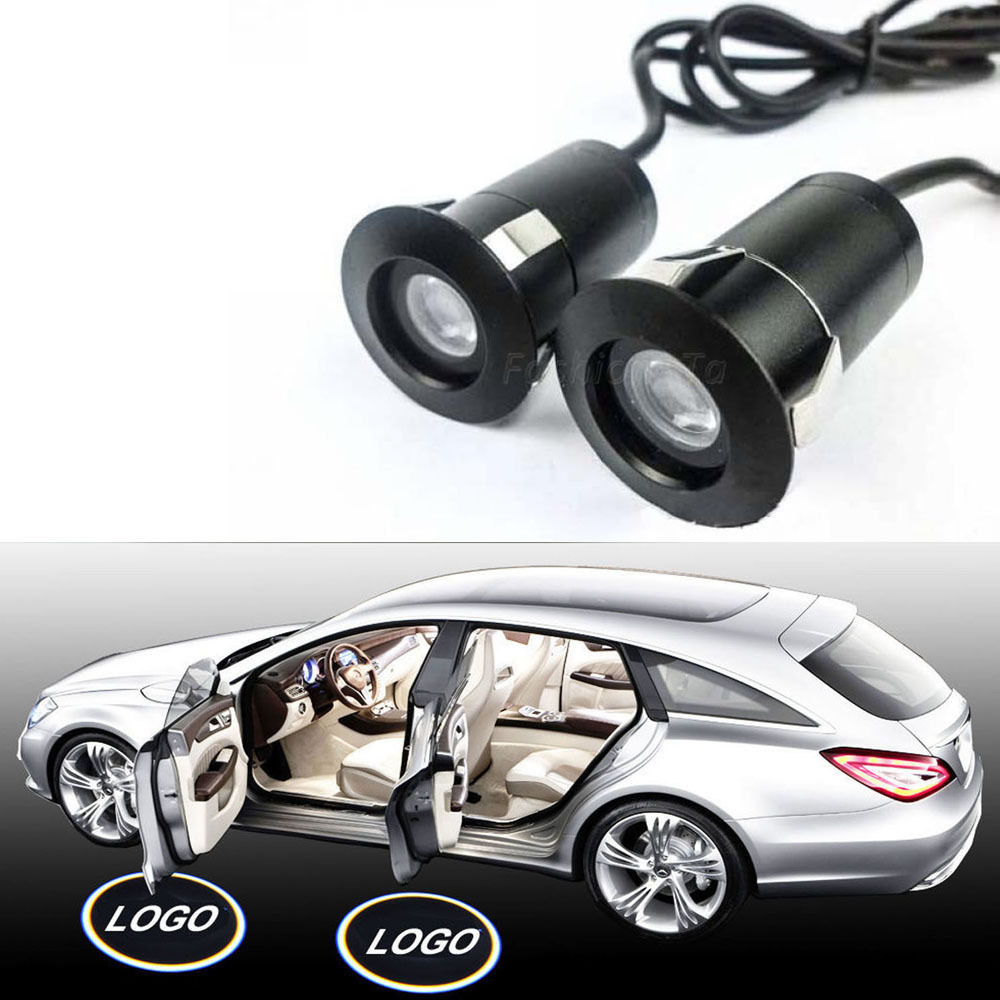 2x 3D LED Door courtesy Shadow Car logo Light For VW Toyota Buick Welcome light