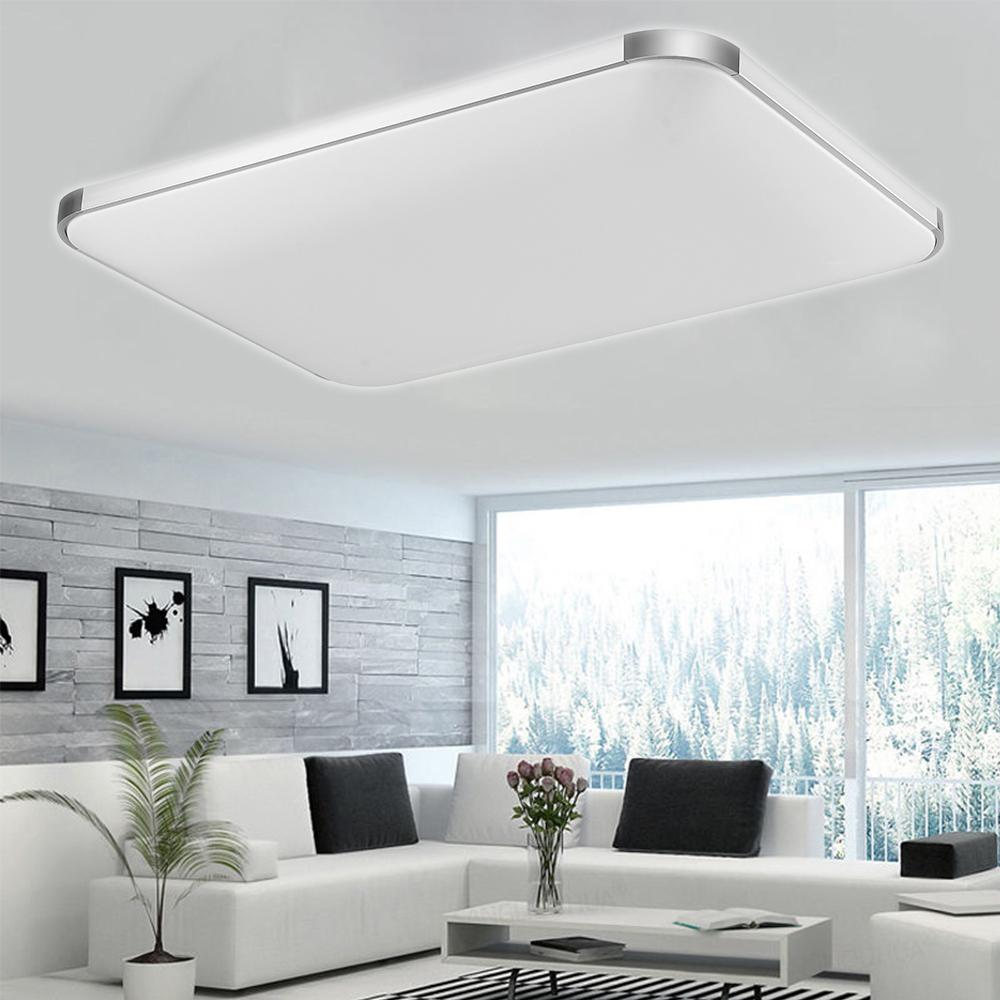 led deckenleuchte deckenlampe 12w 72w wohnzimmer badleuchte dimmbar k chen lampe ebay. Black Bedroom Furniture Sets. Home Design Ideas