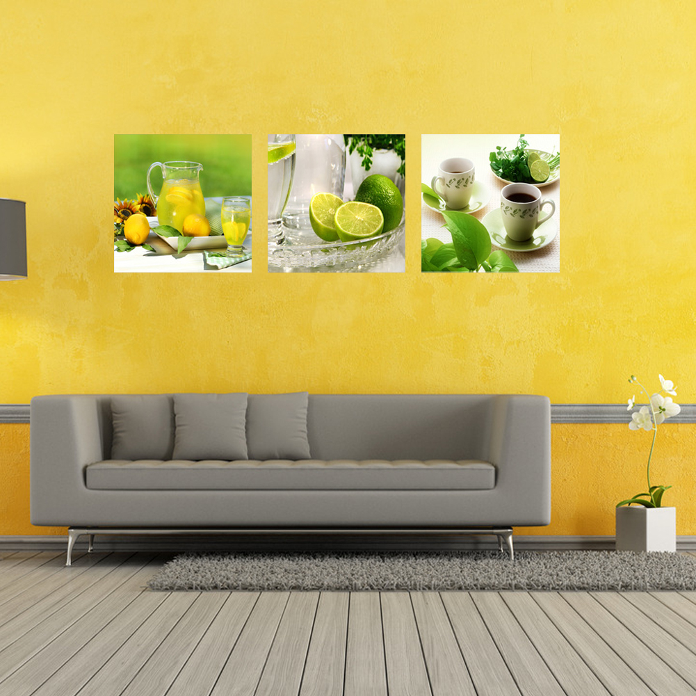 3 Panel Unframed Modern Oil Painting Fruit Wall Art Picture Canvas ...