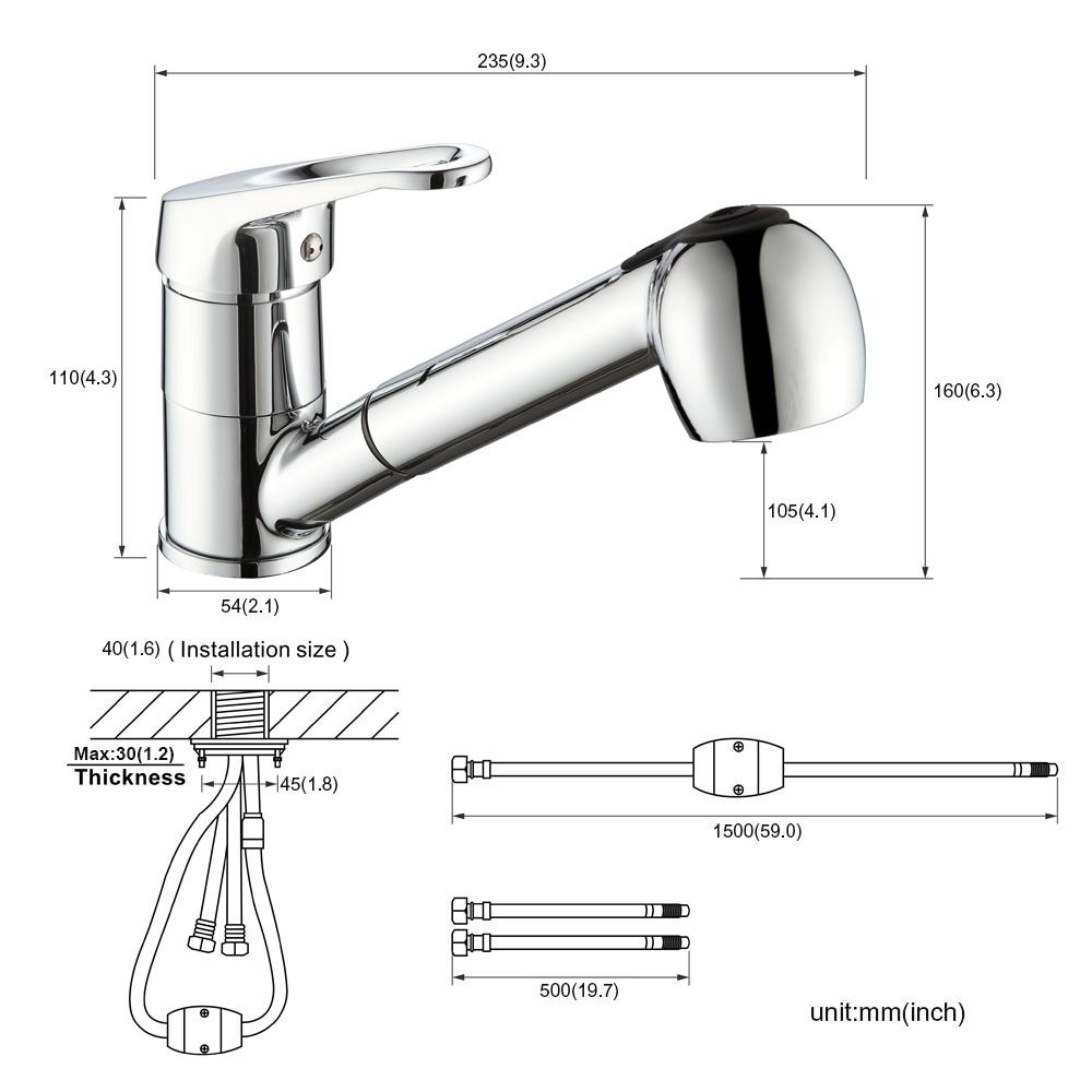 Wasserhahn Küche Ohne Druck: Küchenarmatur Ausziehbar Küche Spüle Armatur Wasserhahn