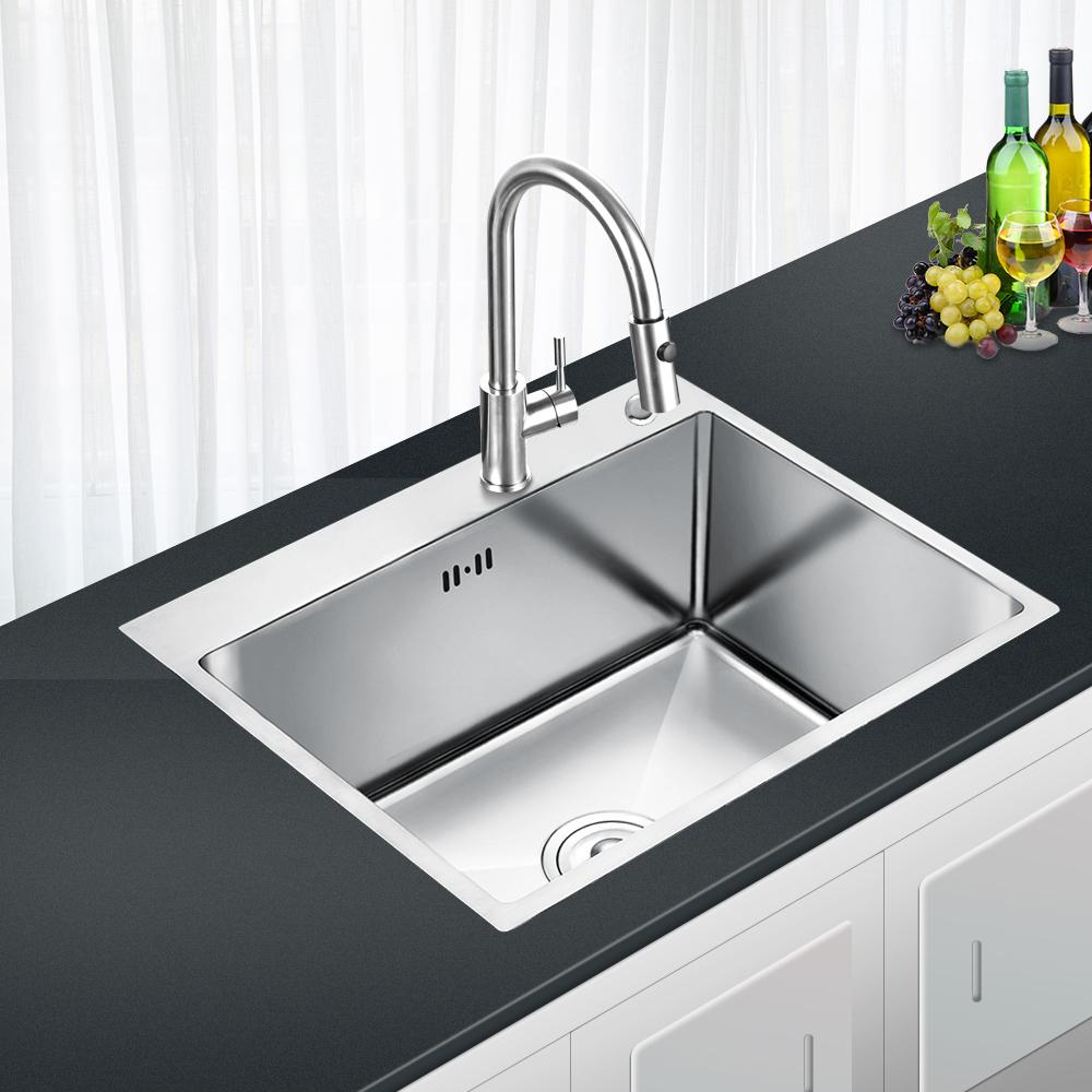 Details zu Edelstahl Küchenspüle Einbauspüle mit Abtropffläche Spülbecken  Küche Eckig Spüle