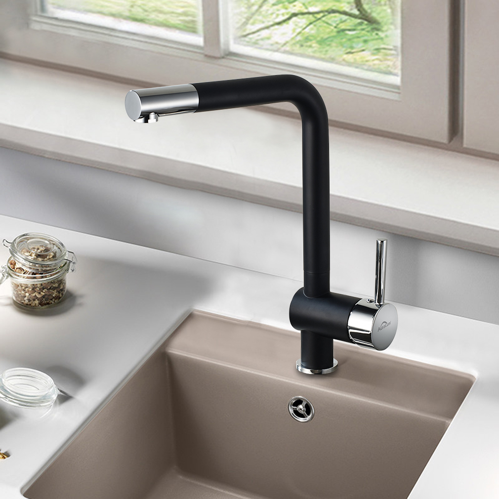 360° drehbar küchenarmatur wasserhahn küche schwarz