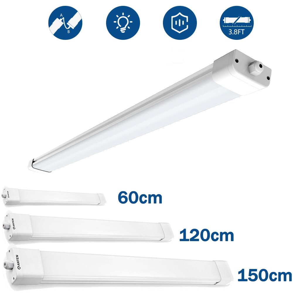 IP65 LED Feuchtraumlampe Deckenleuchte Nassraum Wannenleuchte 60cm 120cm 150cm