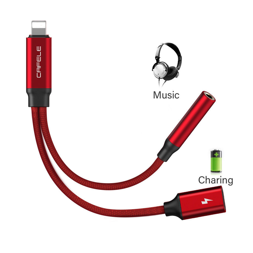 Details About 2 In 1 To 35mm Jack Headphone Adapter Charge Cable For Apple IPhone 7 Plus 8 X