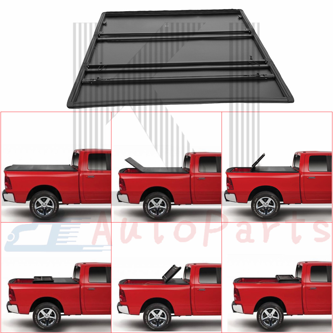 5 7ft 5 8 Short Bed Roll Up Lock Soft Tonneau Cover For 2009 18