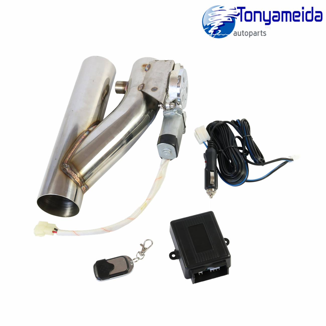 """Controller Remote Kit 2.5/"""" Electric Exhaust Downpipe Cutout E-Cut Out Valve"""