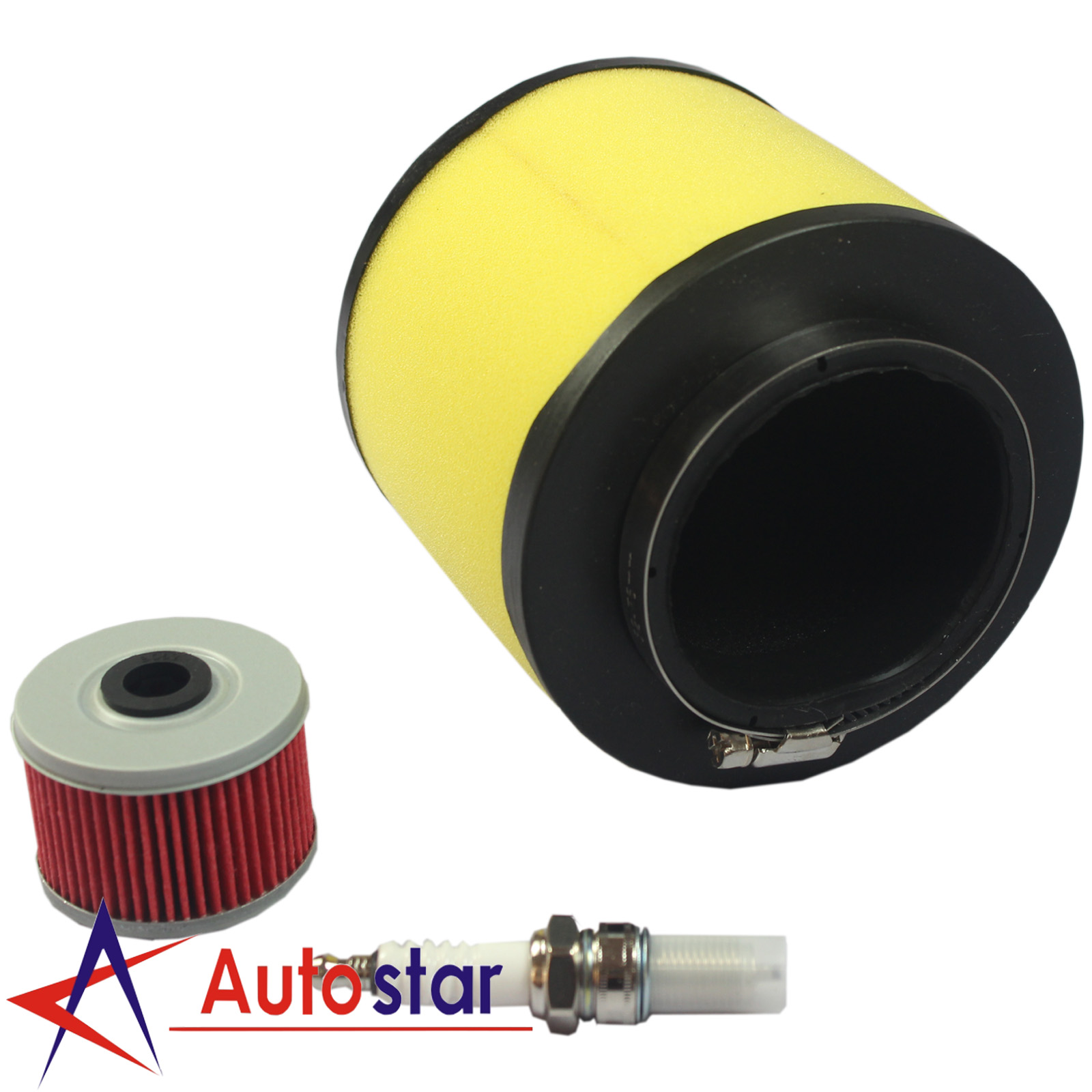 Air Filter Fuel Oil Filter With Spark Plug For Honda Foreman 400 450  Rancher 350