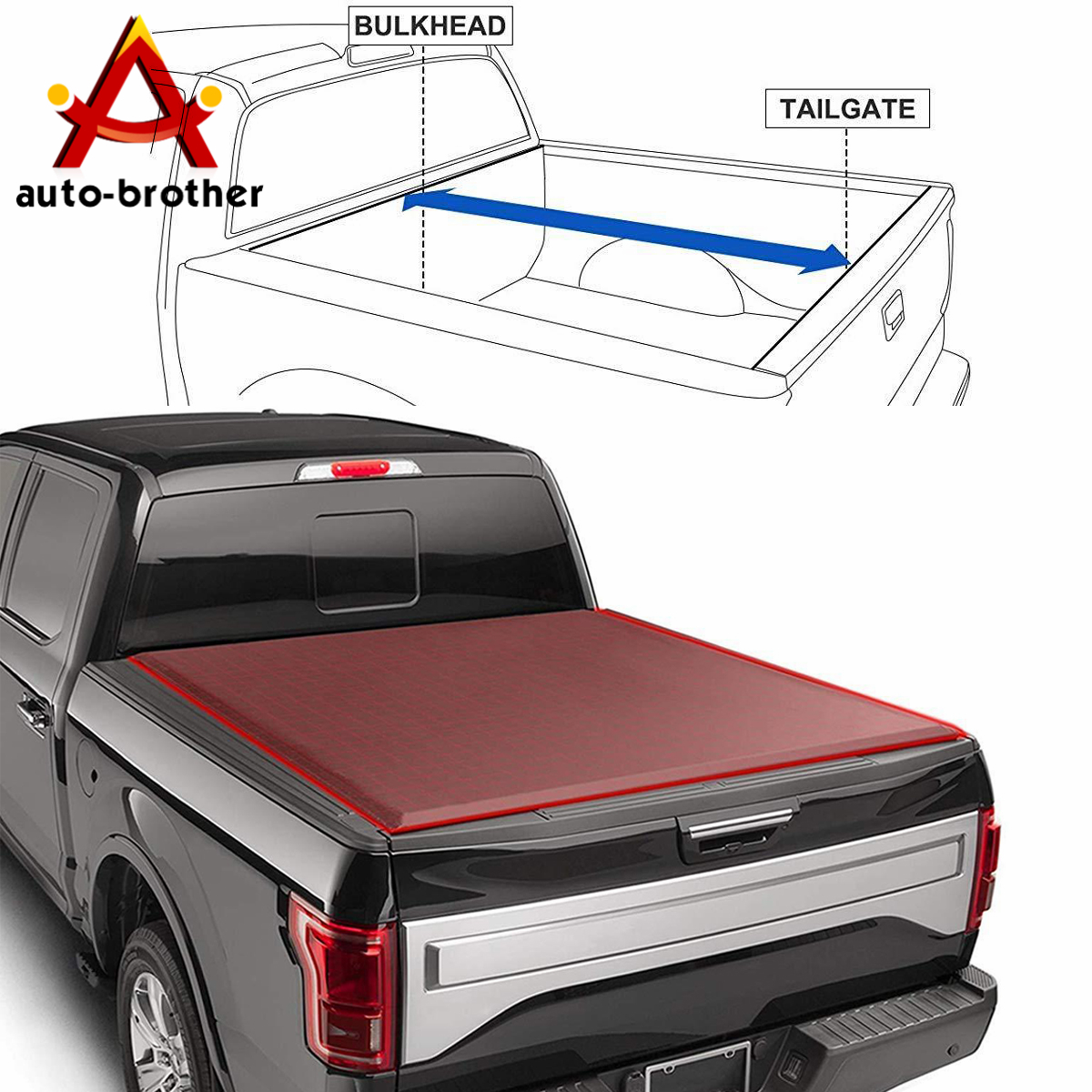 Details About Tri Fold Truck Bed Tonneau Cover Soft For Toyota Tacoma 2016 2019 5ft