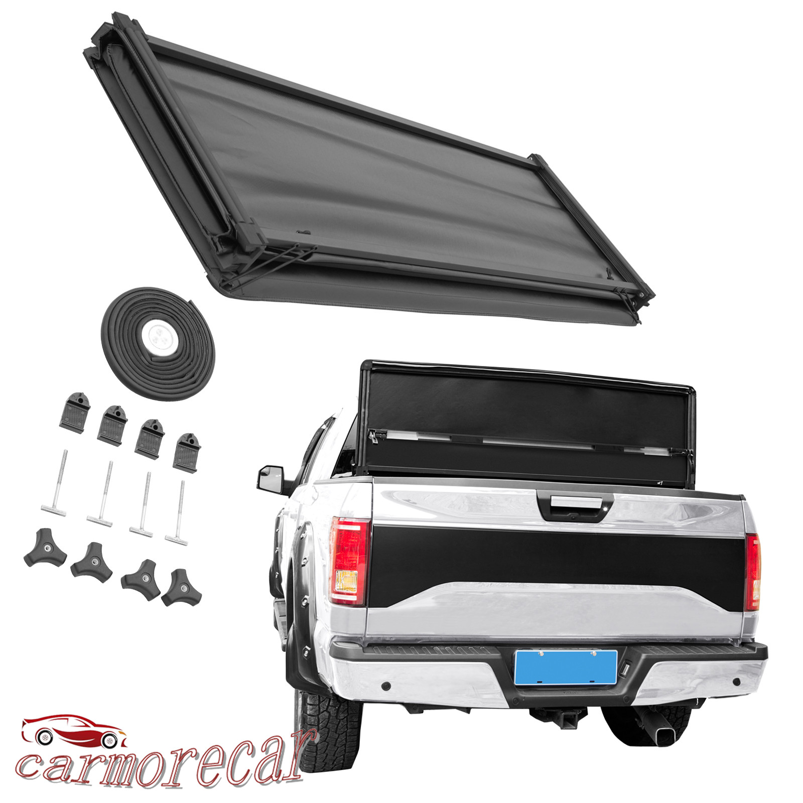 Automotive Truck Bed Accessories Jdmspeed Tri Fold Tonneau Cover For 2015 2018 Ford F 150 5 5 Bed Topseven Mx