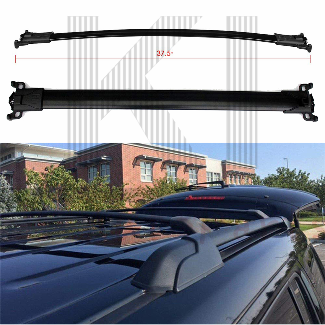 2x Roof Rack Cross Bar Luggage Carrier For 2010-2017 Chevy Equinox GMC Terrain