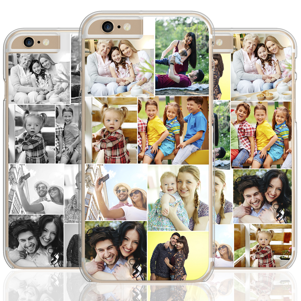meet 52350 ff4a2 Details about Custom Personalised Collage Hard Phone Case Cover iPhone  Create Own Mobile Case