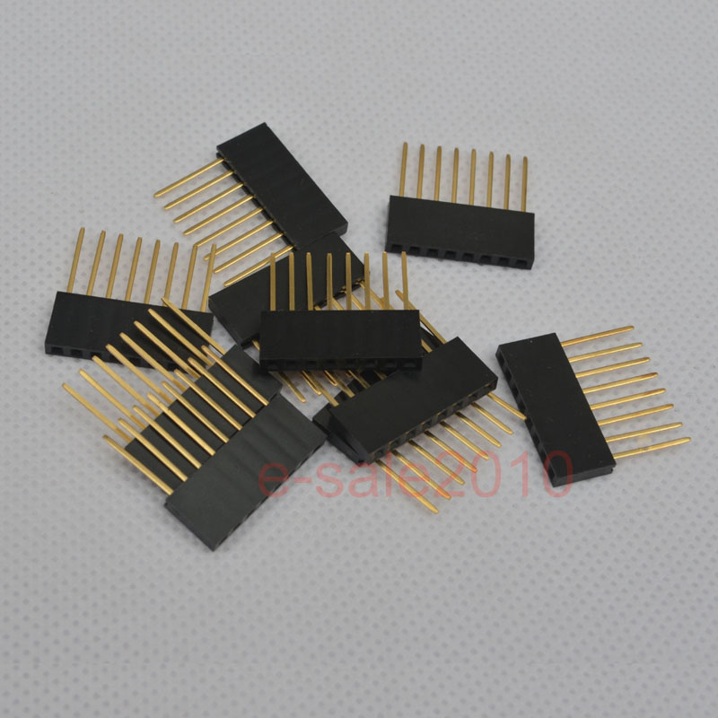 20X New  4 Pin Female Tall Stackable Header Connector Sockets for Arduino Shield