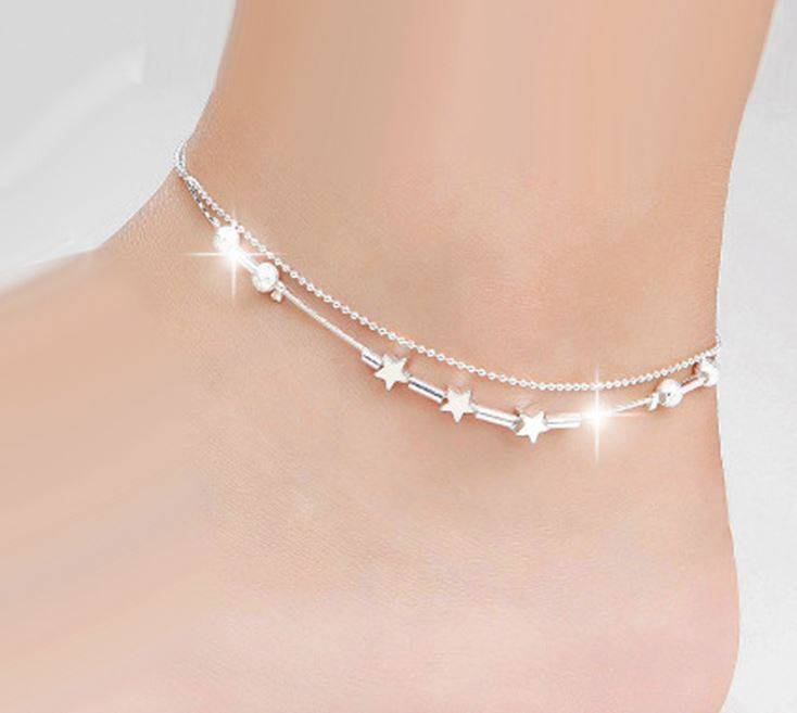 84082a19c Image is loading Women-Ankle-Bracelet-Various-Style-Silver-Gold-Anklet-