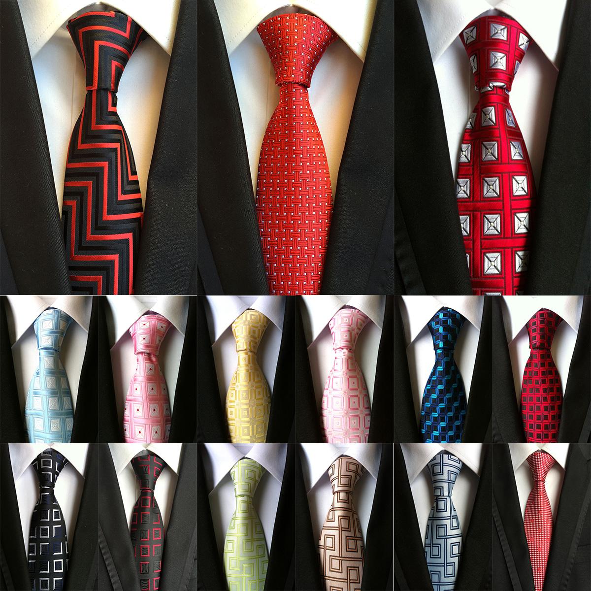"3.1/"" Classic Mens Neck Ties 100/% Silk Necktie Tie JACQUARD WOVEN Vintage Paisley"