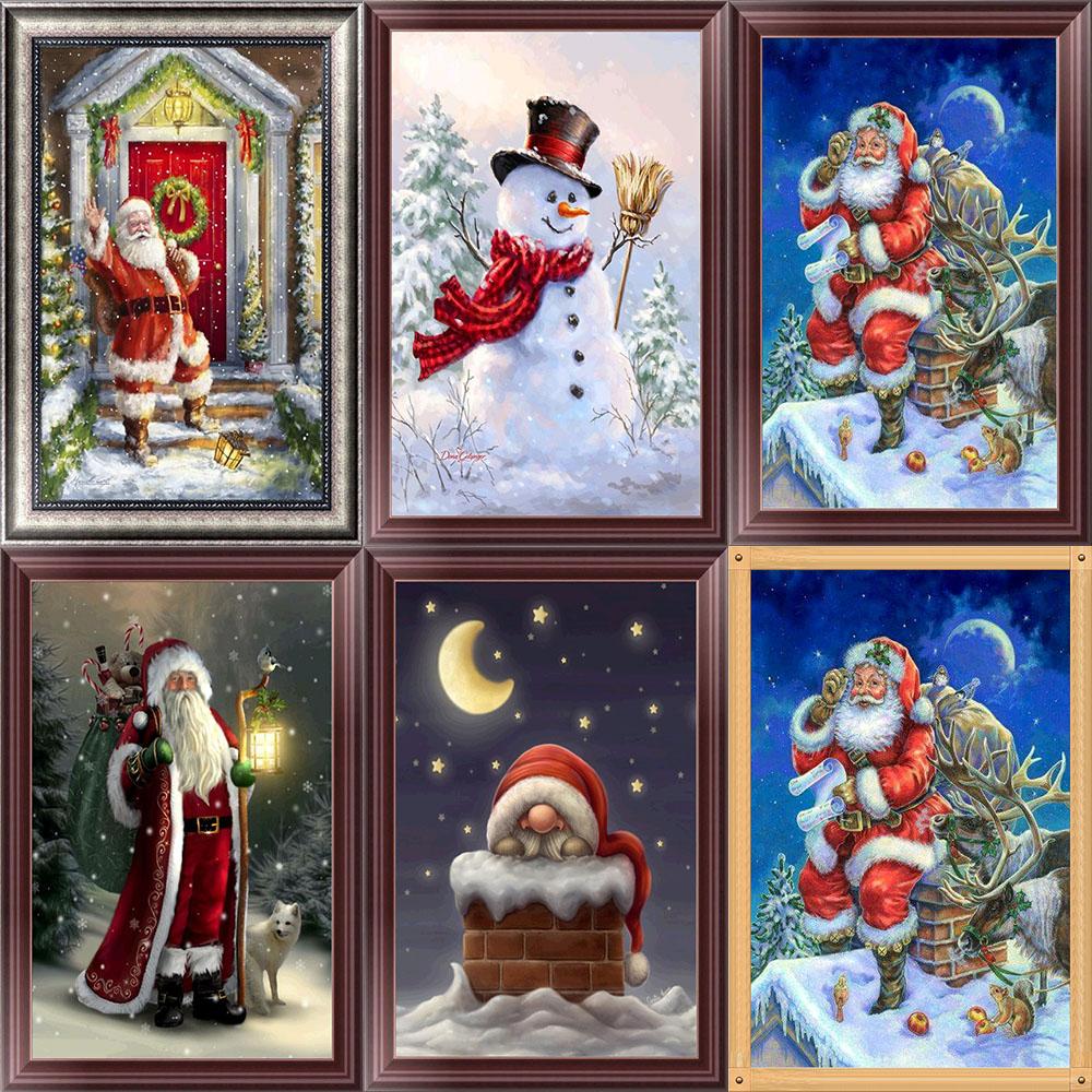 40*30cm Christmas Theme Full Sets Decorative Diamond Painting EA