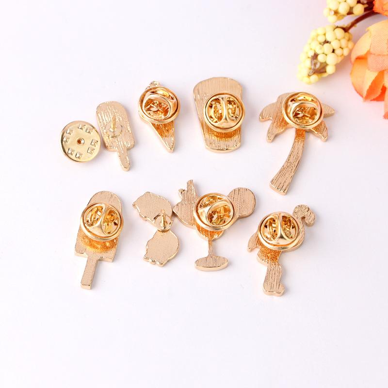 Cat Bee Enamel Piercing Brooch Pins Shirt Collar Pin Breastpin Jewelry Gift