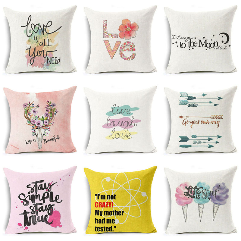 Pillow Case 18/'/' Throw Rose Sweet Love Square Cushion Cover For Valentine/'s Day