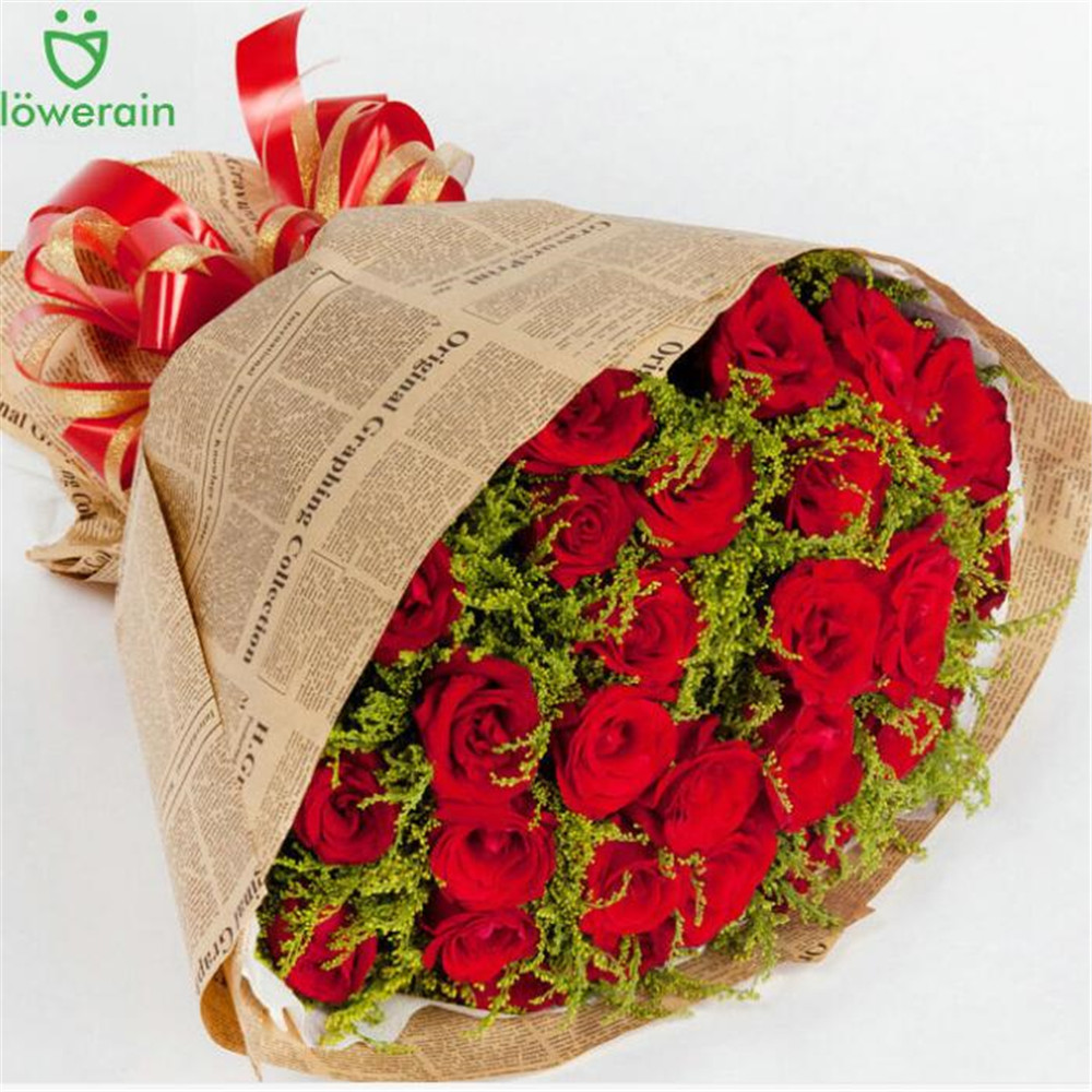 1X DIY Vintage Newspaper Wrapping Paper Flower Bouquet Craft Paper ...