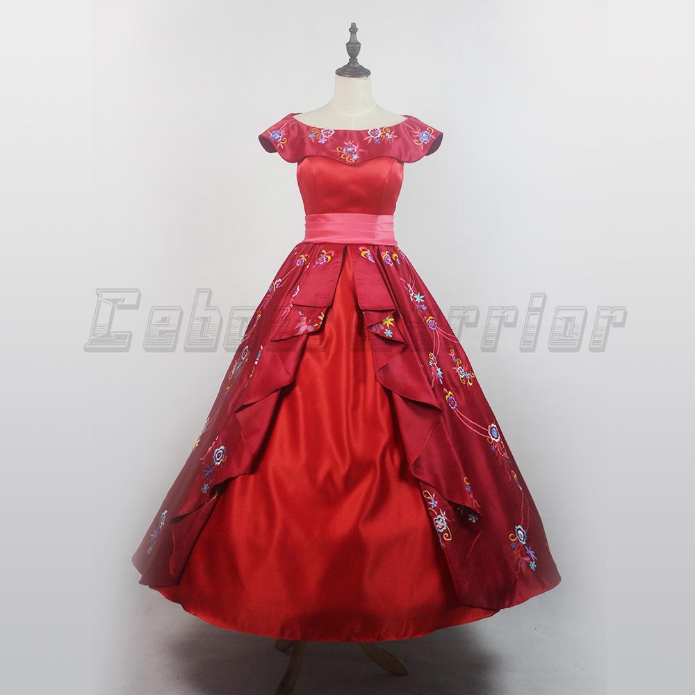 Princesse disney robe rouge