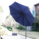9 Outdoor Patio Umbrella LED Lighted Solar Powered Umbrella