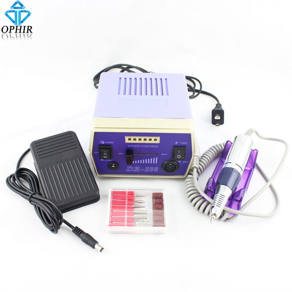 30000RPM 110V US Plug Electric Nail Drill Handpiece File Grinder ...