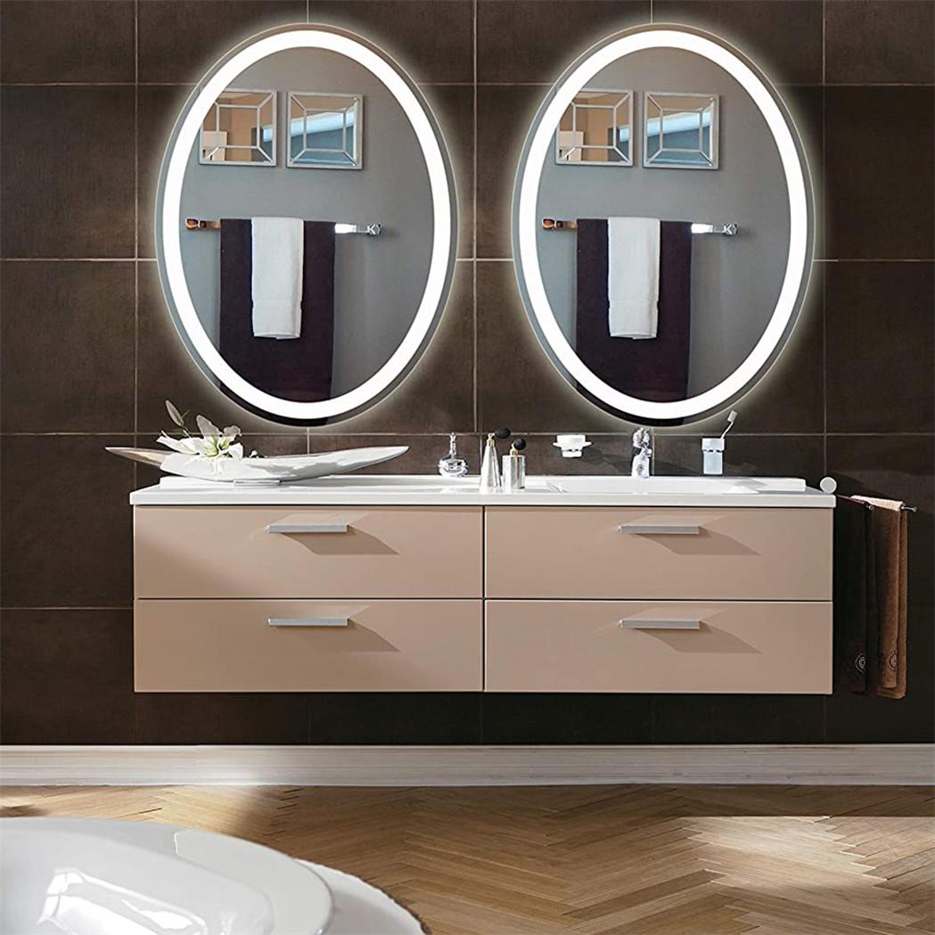 High Lumen Big Oval Led Bathroom Mirror Wall Vanity Mirror Anti Fog Smart Touch Ebay