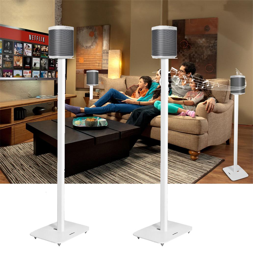 for SONOS PLAY 1 /& PLAY 3 Audio Speaker Aluminium Rod Speaker Floor Stand Pair