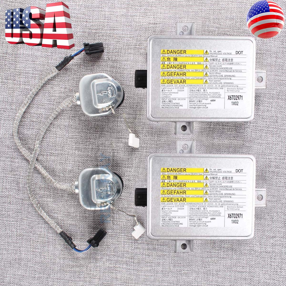Xenon Ballast & Igniter Kit HID Control Unit Inverter