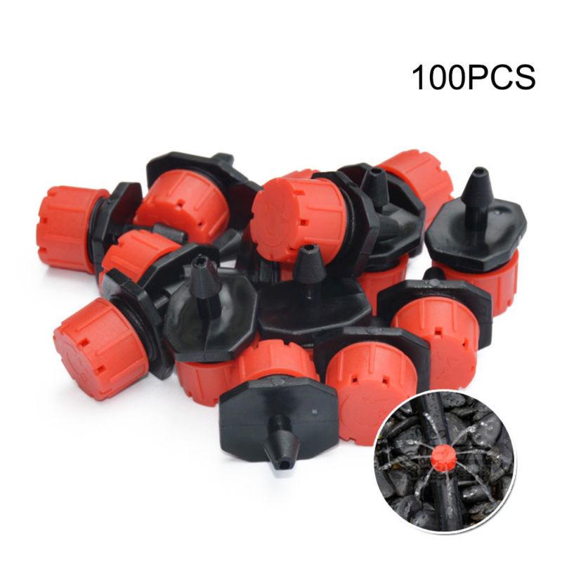 50//100 pcs Adjustable Dripper Drip Irrigation System Flow Plant Sprinkler W O0U9