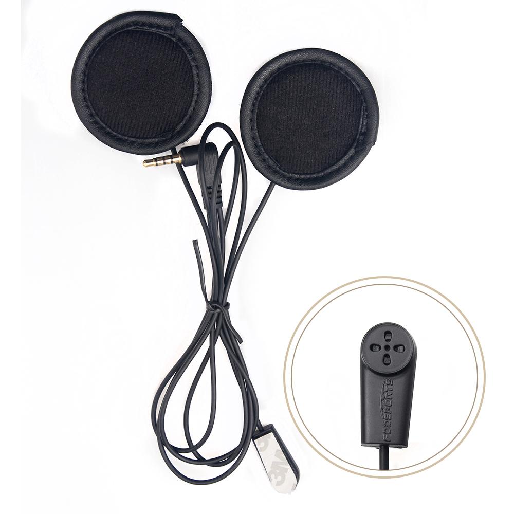V4 V6 Motorbike Helmet Intercom Headset Flexible Headphone w/ Microphone Speaker