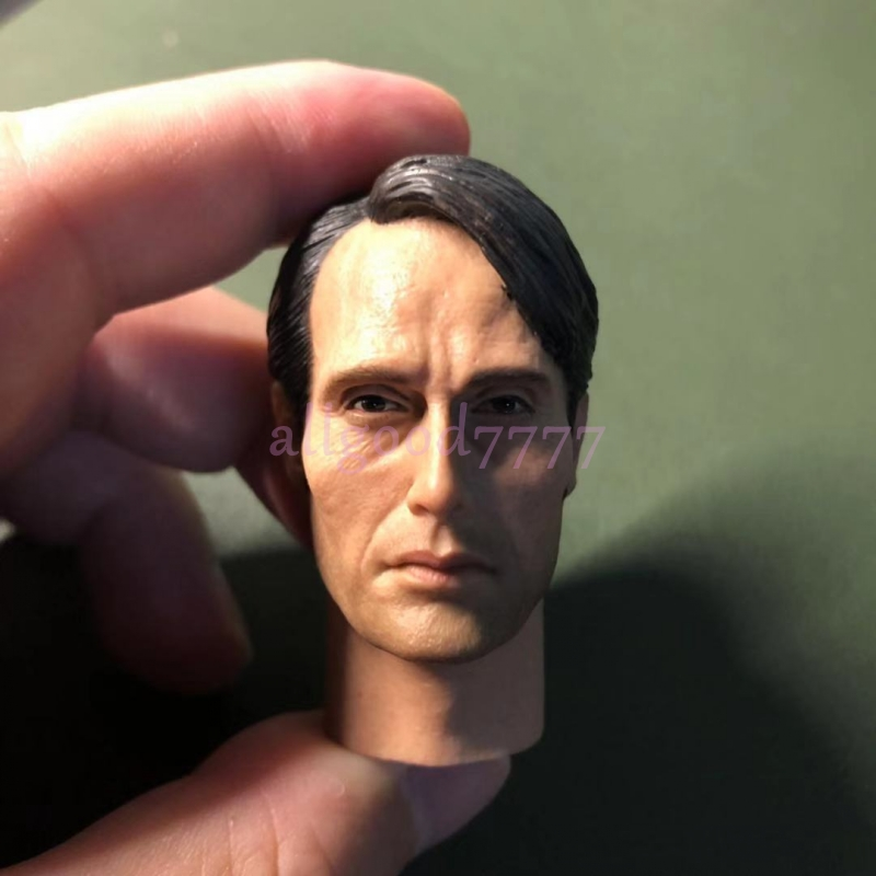 "new in stock custom 1//6 scale Hannibal Mads Mikkelsen head sculpt fit 12/"" body"