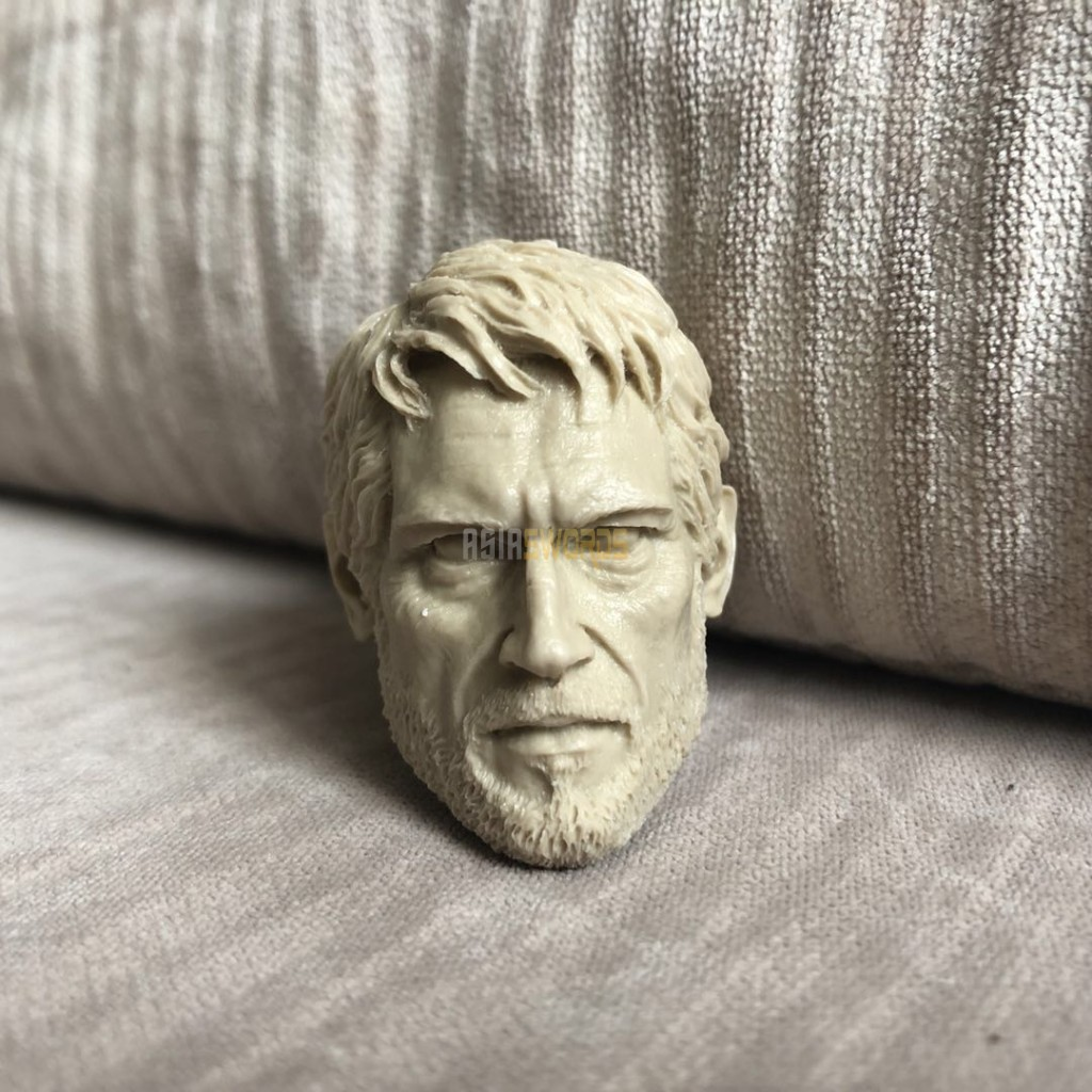 Unpainted the last of us joel head for 12 inch figure