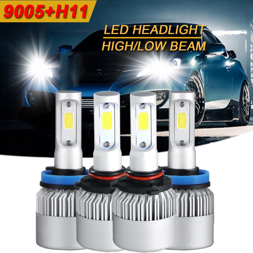 Combo 9005+9006 3000W 450000LM CREE LED Headlight Kit Hi-Low Beam 6000K White US