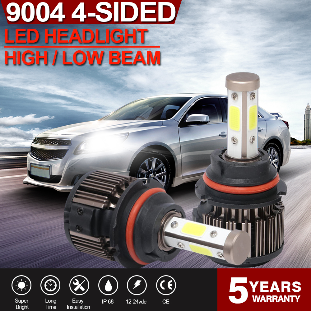 Details about 9004 LED Headlight Bulbs Hi/Lo Beam for 92-95 Toyota 4Runner  & Chevrolet Venture