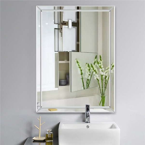 Details About Home Bathroom Bath Mirror Wall Mount Vanity Mirrors Frameless Decorative