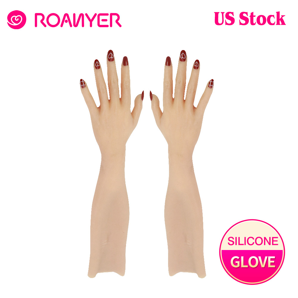 Dokier Realistic Female Silicone Gloves With Skin Texture For Crossdresser
