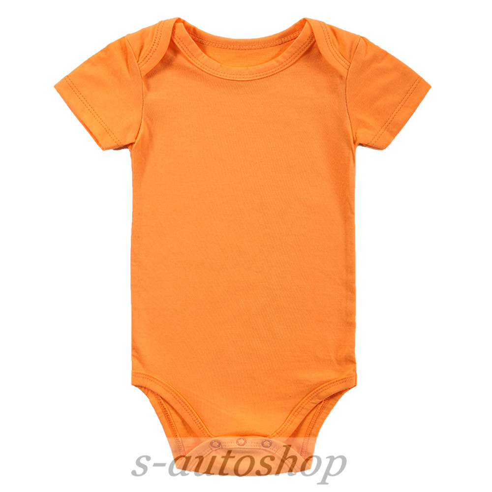 Orange Baby Bodysuit//Creeper 0-12 Month