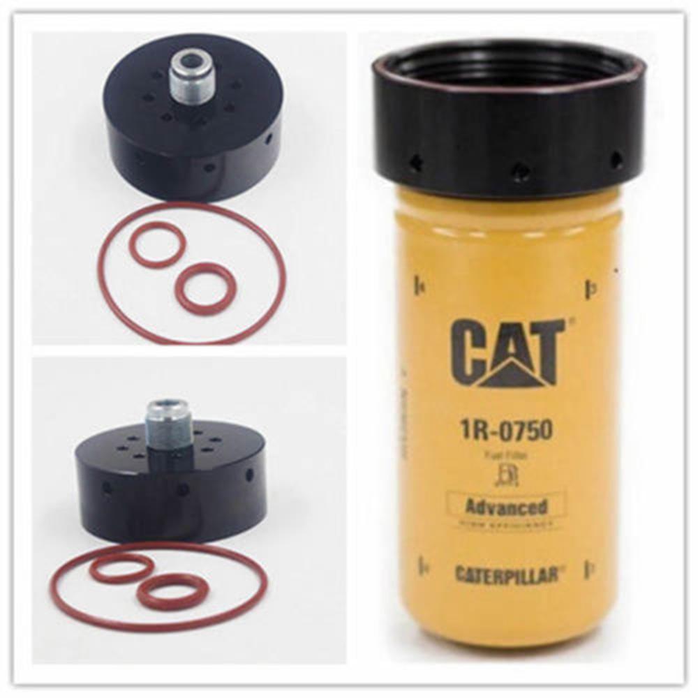 6.6L Duramax CAT Fuel Filter Adapter Caterpillar 1R-0750 Chevy GMC 2001-2017