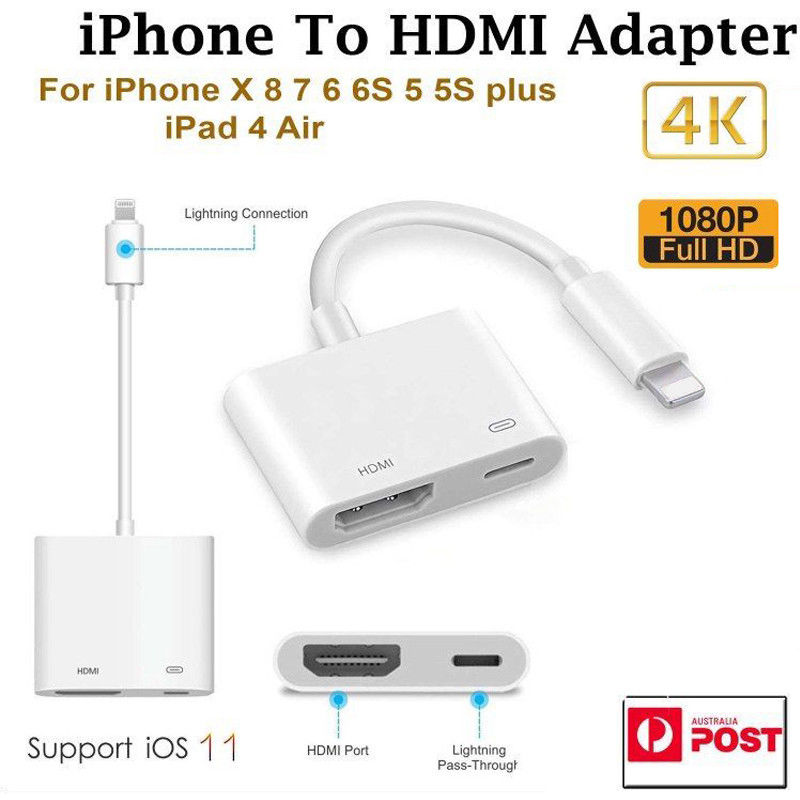 Lightning 8pin to HDMI Female Video Digital AV Adapter for iPhone8 X 8plus IOS11