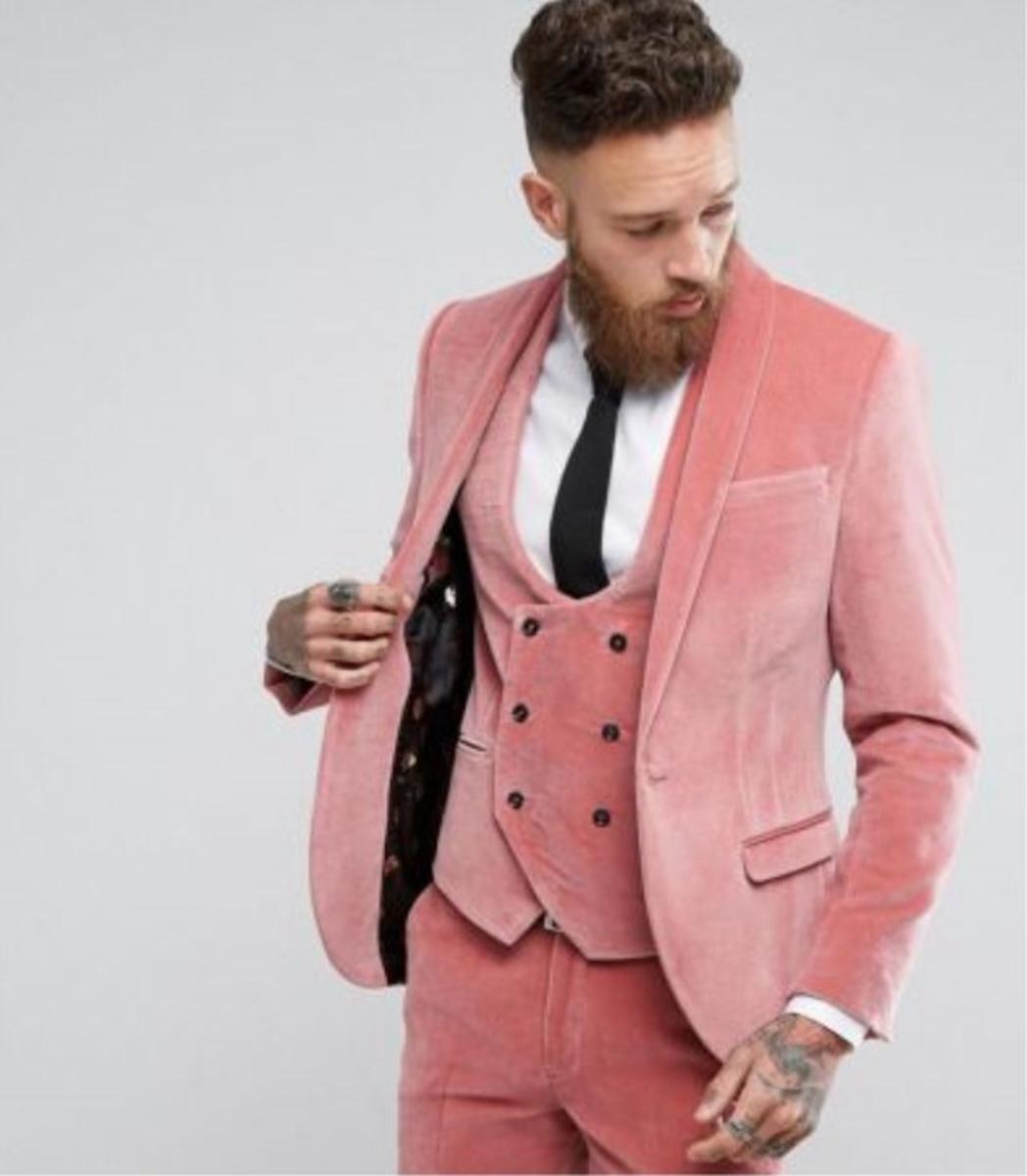 Men/'s Black Velvet Slim Fit Suit Blazer Groom Tuxedo Formal Wedding Suits Custom